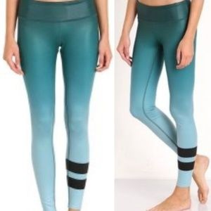 Alo Green Ombre Airbrush Yogo Leggings